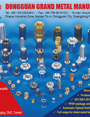 Self-Clinching Studs, Nuts, Standoffs, Rivet Bushes, Welding Studs and Standoffs, Brass Inserts for Plastics, Cage Nuts, Rivet Nuts, Customized Parts via Cold Forging, CNC, Turned