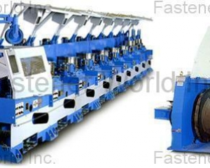 STRAIGHT LINE WIRE DRAWING MACHINE WITH COMPUTER CONTROL(AN CHEN FA MACHINERY CO., LTD. )